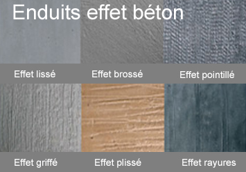Effets mati res making loft for Peinture aspect beton