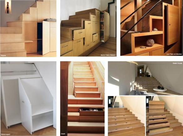 plein d id es pour exploiter l espace sous l escalier making loft. Black Bedroom Furniture Sets. Home Design Ideas