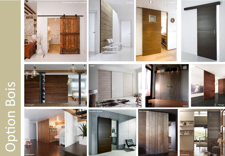 Les portes coulissantes making loft - Porte coulissante bois et verre ...